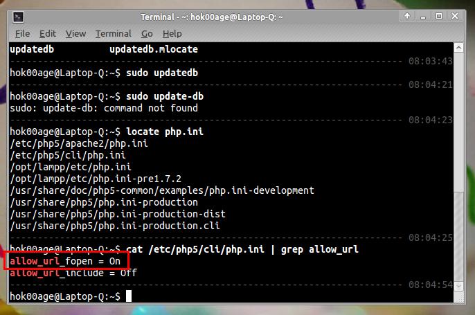 Mengecek setingan PHP