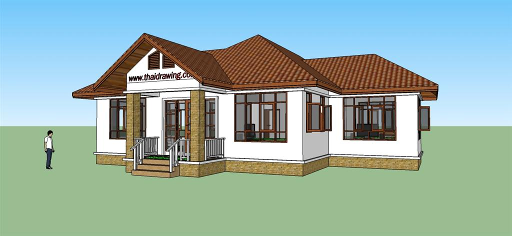 Thai drawing house plans free house plans for Small house design thailand