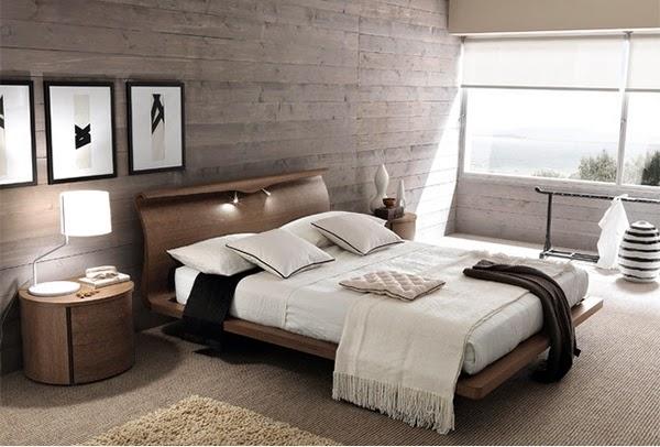 Conception chambre avec panneaux en bois ~ Décor de Maison ...