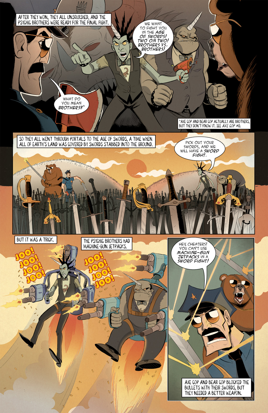 Read online Axe Cop: Bad Guy Earth comic -  Issue #3 - 15