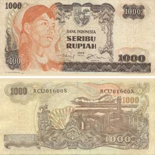 Uang Rp 1000,00 Tahun 1968