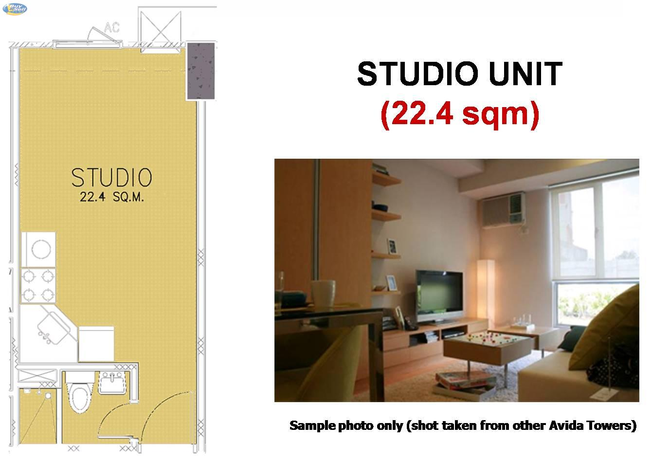 Avida towers alabang studio type unit at avida towers for Interior designs for studio type condo