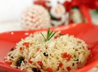 O arroz de Natal fácil de fazer e gostoso para valer
