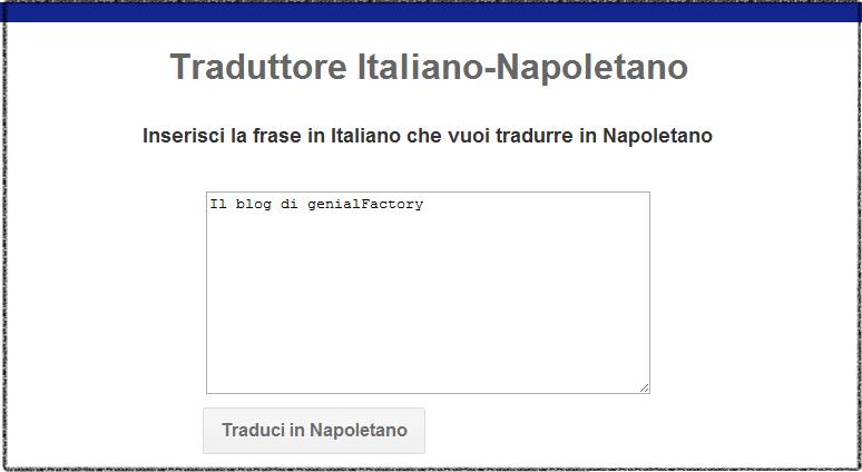 Traduttore napoletano applicazione per smartphone - Traduttore simultaneo portatile italiano inglese ...