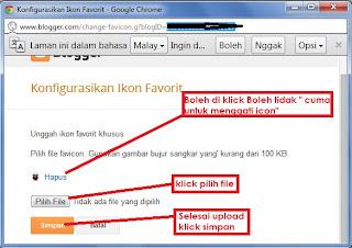 Favicon atau ikon blog