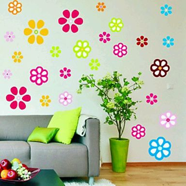Stickers de pared decoracion de for Cuartos decorados kawaii