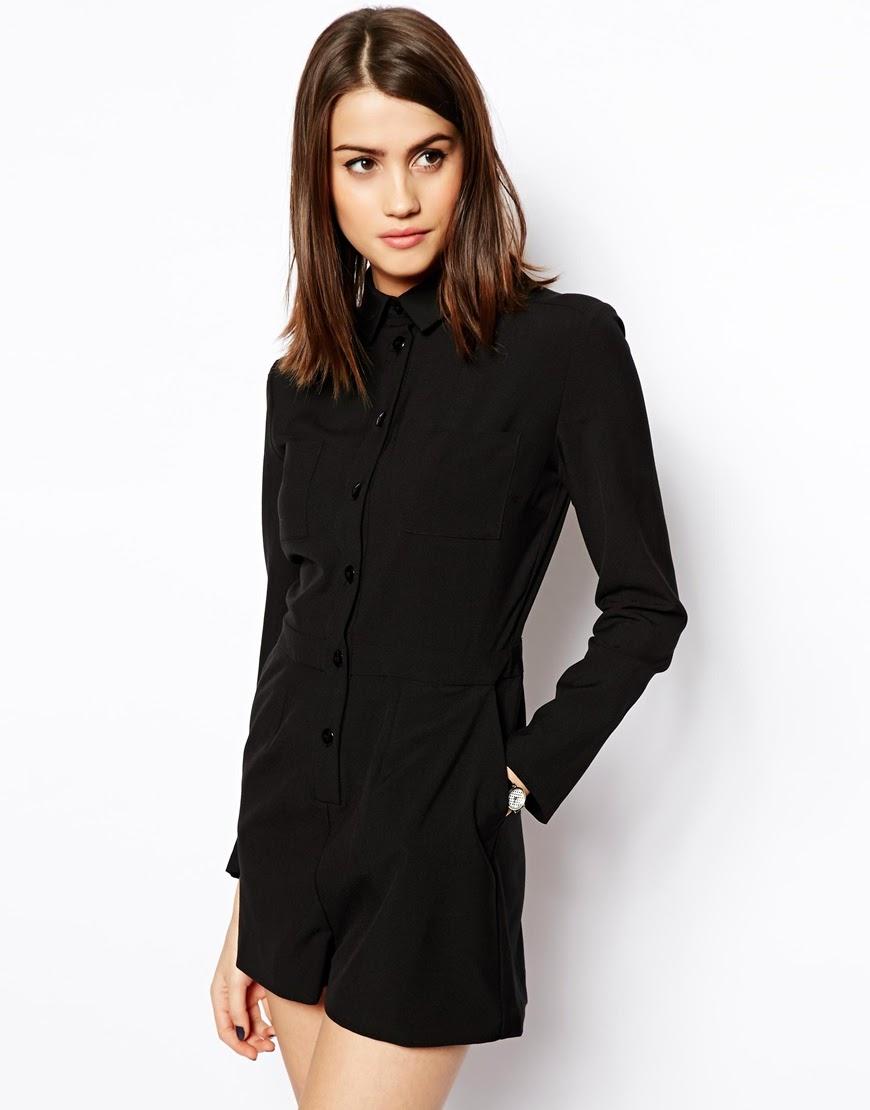 black shirt playsuit