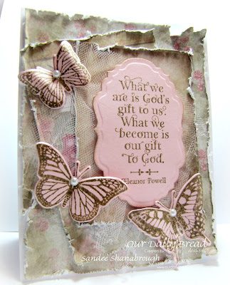 Stamps - Our Daily Bread Designs Trois Jolies Papillon, God Quotes, ODBD Custom Dies: Trois Papillons, Vintage Labels, ODBD Shabby Rose Paper Collection