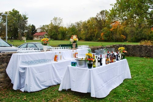 The party started with drinks and hot and cold hors du0027oeuvres catered by Blue Monkey Catering of Feasterville in the tented barn yard. & The Graeme Park Commonplace Book: A Wedding at Graeme Park: Maggie ...