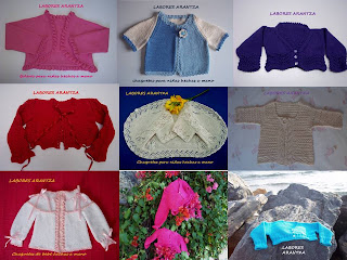 Chaquetas para nias hechas a mano