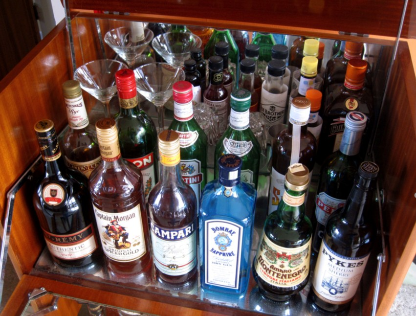 big hits and jet lags: My liquor cabinet