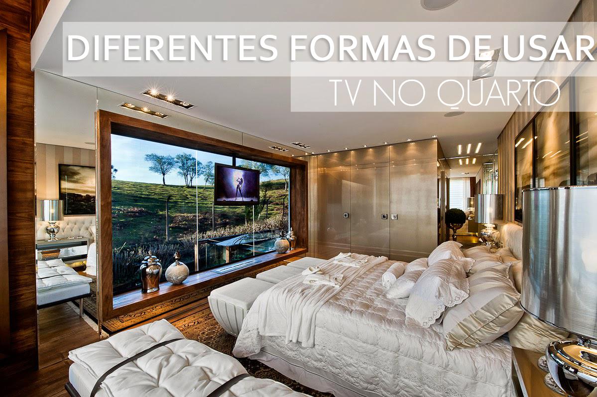 diferentes formas de usar tv no quarto ou em outros