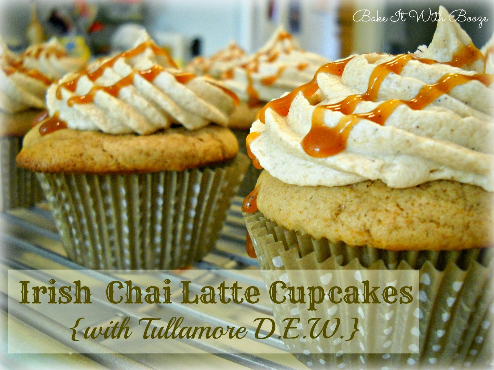 Irish Chai Latte Cupcakes {with Tullamore D.E.W.}