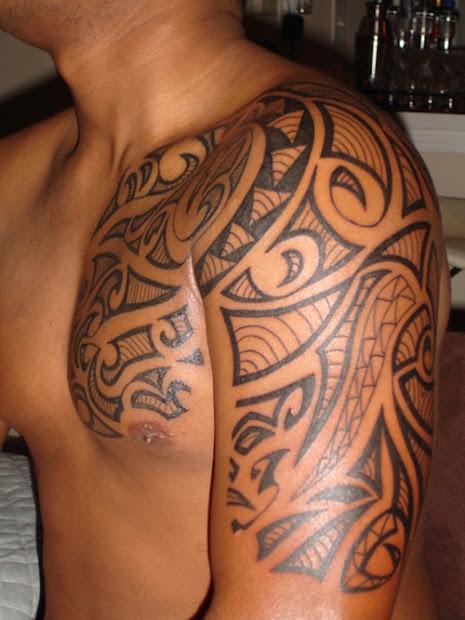 tattoos men chest shoulder