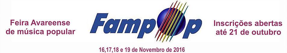 INSCRIÇÕES FAMPOP 2016