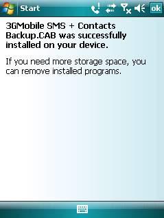 Backup kontak dan sms
