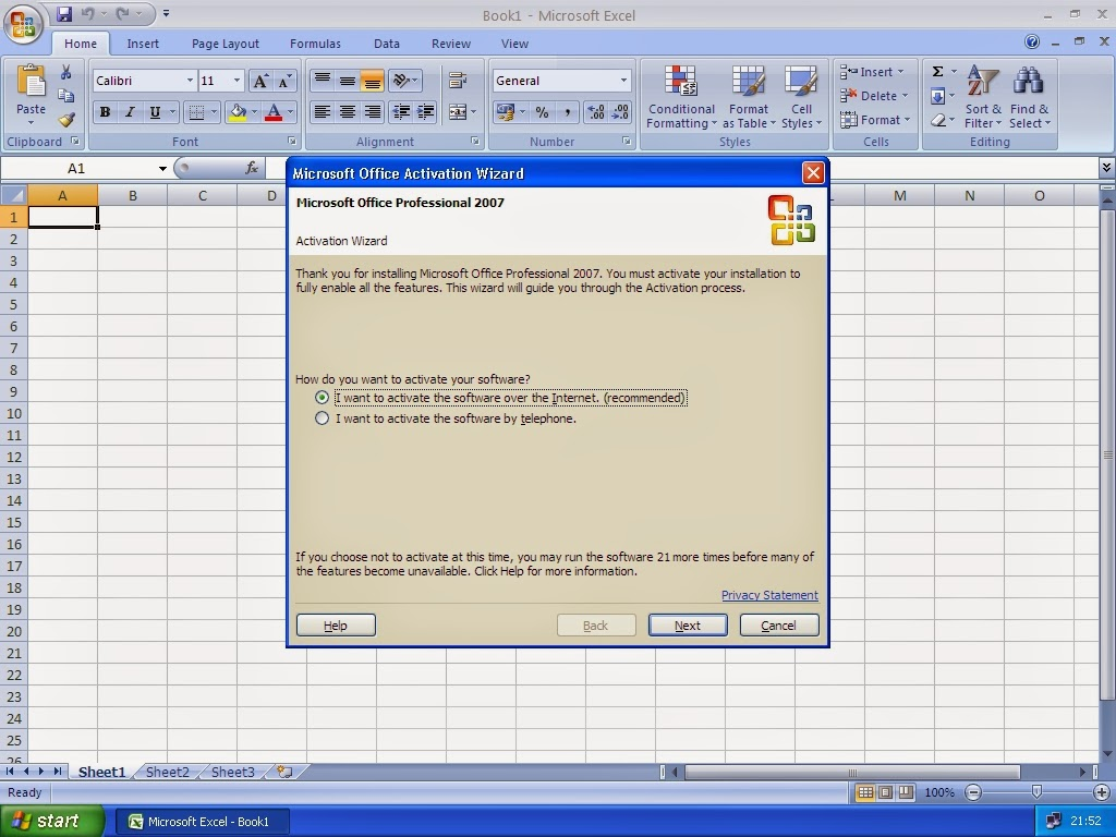 microsoft office enterprise 2007 telephone activation keygen