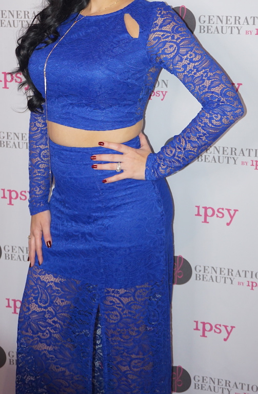 Generation-Beauty-Oufit-Day-1-Guess-Lace-Long-Sleeve-Crop-Top-And-Skirt-Set