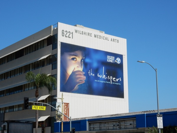 The Whispers giant series premiere billboard