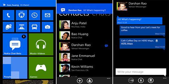 Nokia Chat, Fitur Chatting Di Seri Lumia