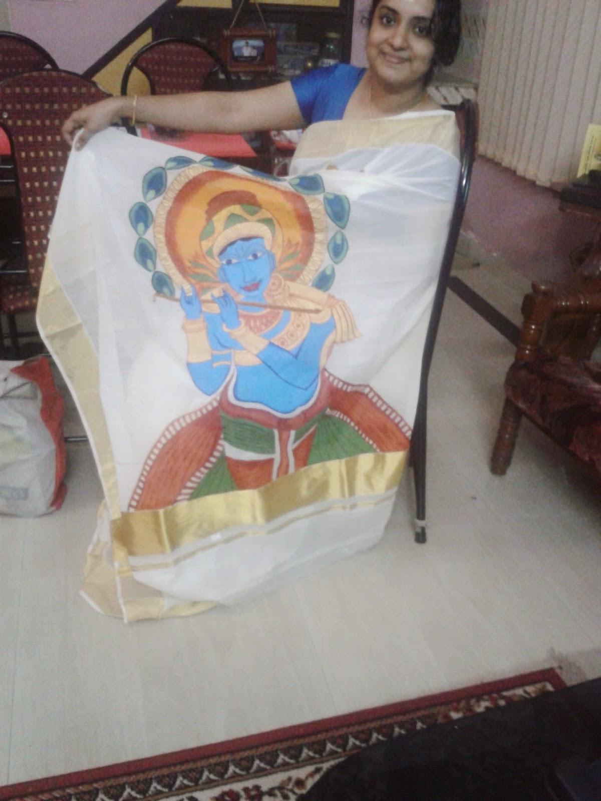 kerala mural saree