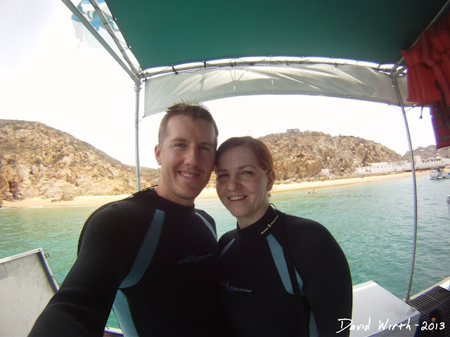 getting ready for sea trek, cabo san lucas mexico, underwater