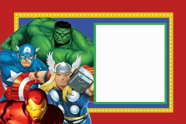 Free Printable Avengers Birthday Invitation Card