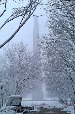 St. Louis Arch in the snow