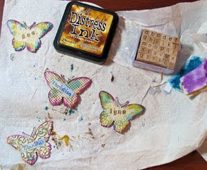 Mixed Media Butterfly Gift Tags