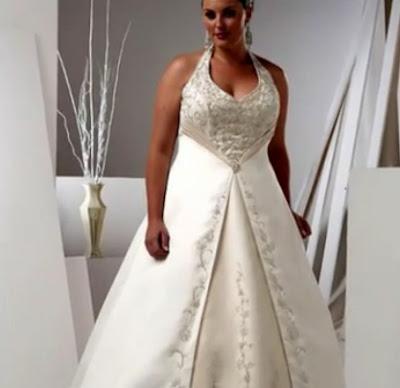 ropa en tallas grandes: vestido trajes de novia tallas grandes