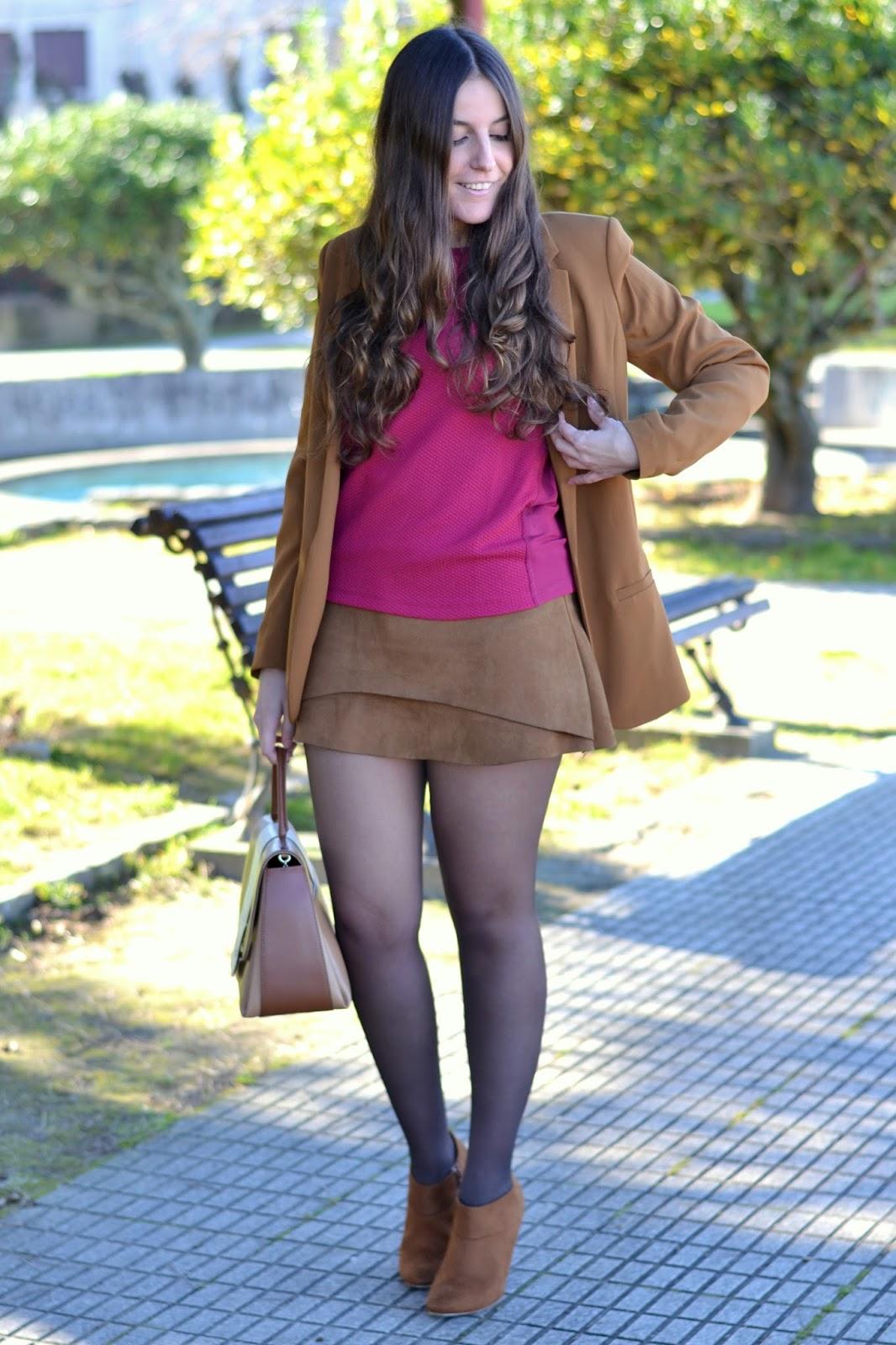 falda de ante de sheinside