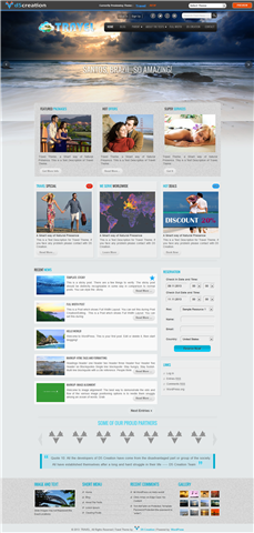 Free Wp Theme Responsive TRAVEL