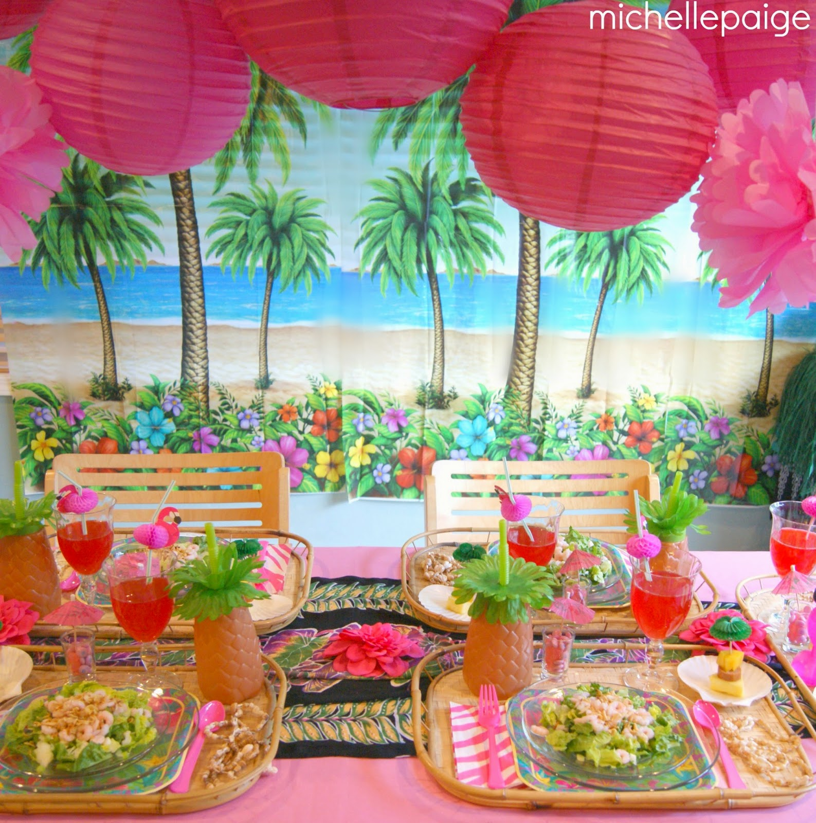 Michelle Paige Blogs Hawaiian Birthday Party