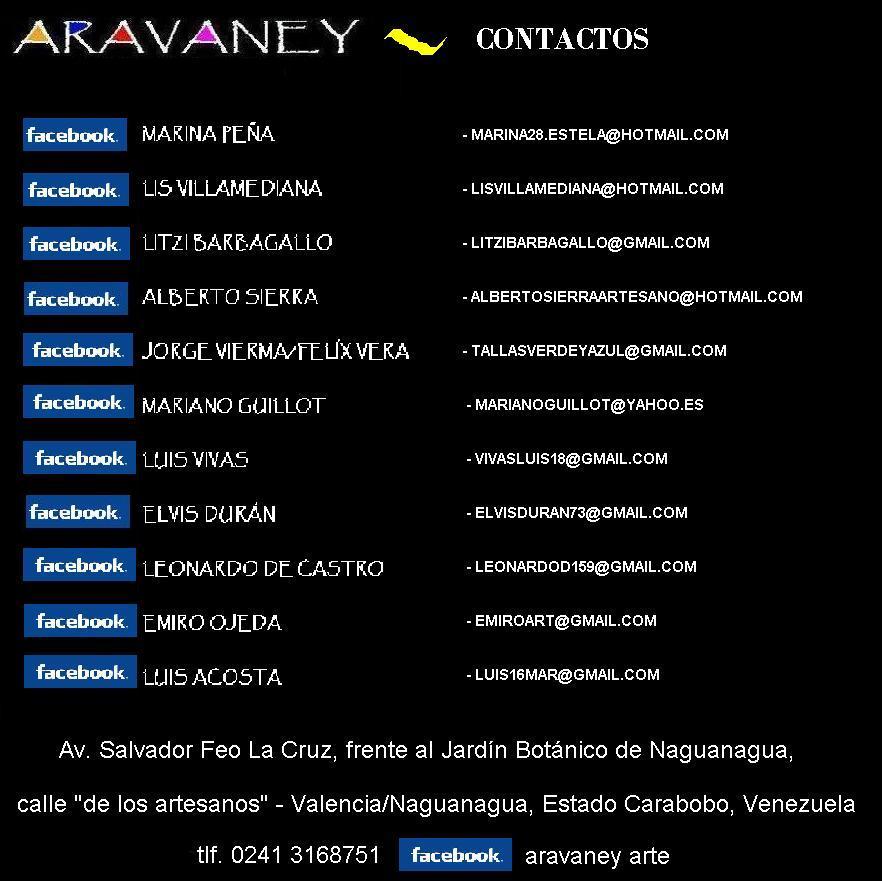 """CONTACTOS """"ARAVANEY"""""""