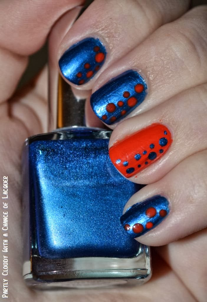 Florida Gator Nails - Week 6   Partly Cloudy With a Chance of Lacquer