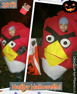 Happy Halloween Angry Birds costume from OneQuarterMama.ca