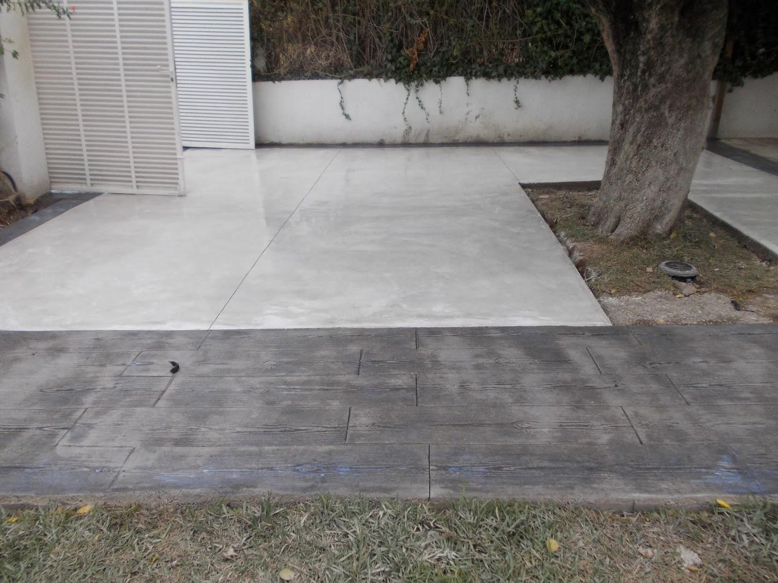 Pavimento continuo de hormigón en blanco , con hormigón impreso en ...