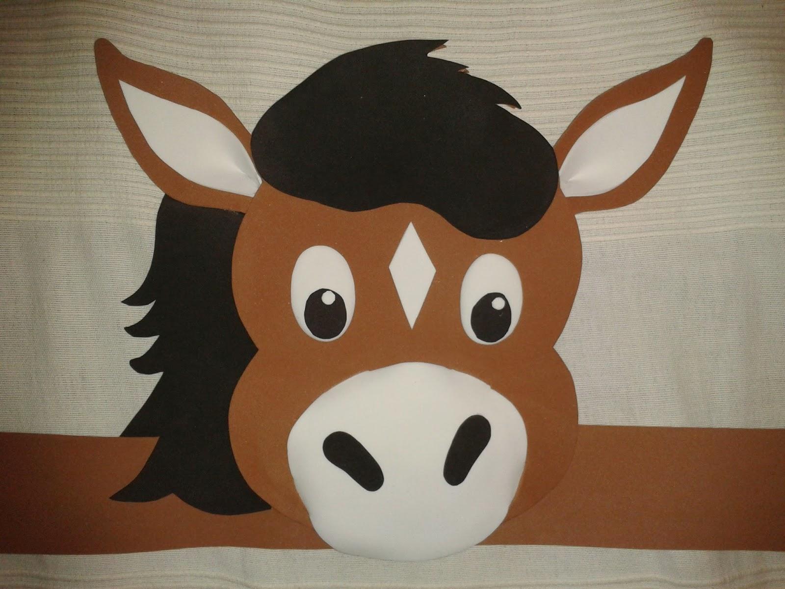 Como hacer una mascara de caballo en foami imagui - Manualidades de caballos para ninos ...