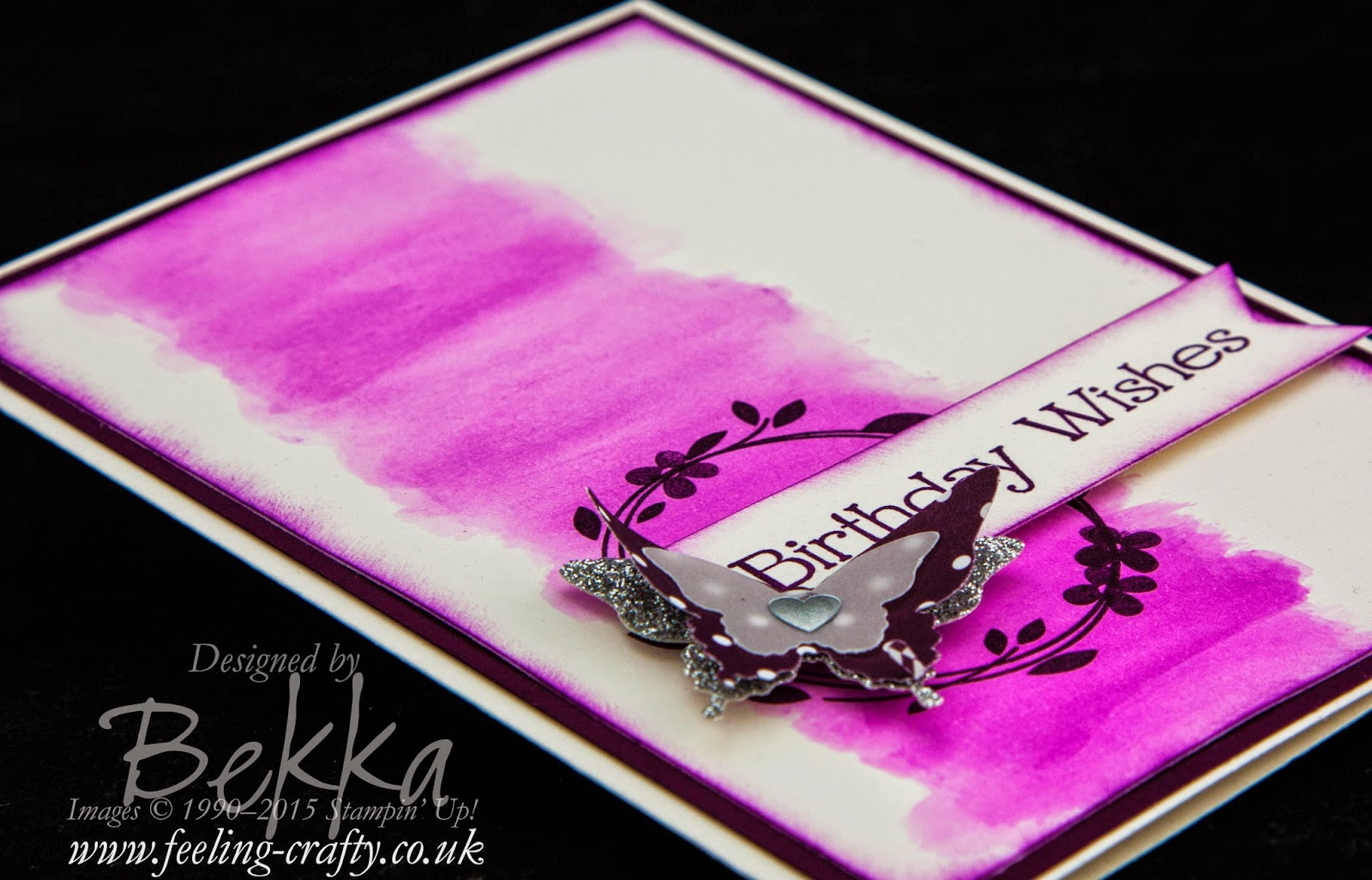 Blackberry Bliss Birthday Butterflies using products from Stampin' Up! UK - check it out here