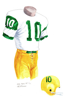1961 University of Miami Hurricanes football uniform original art for sale