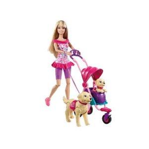 Pre-kindergarten toys - Barbie Strollin Pups Playset (T7197)