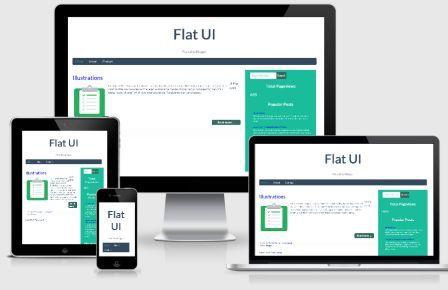 FLAT UI Responsive Blogger Template