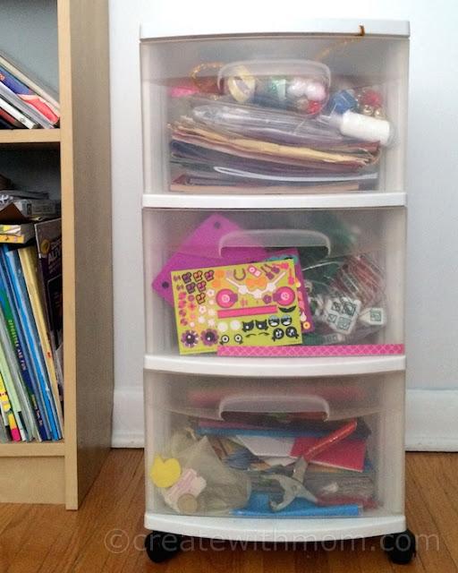 chalkboard tape organizing