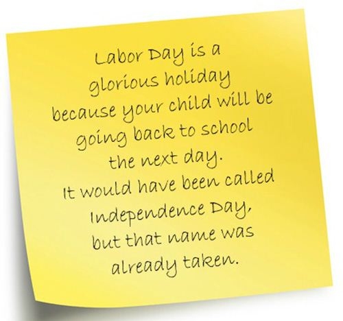 Humorous Labor Day Poems: Funny Poem For Kids About Labor Day Is A Glorious Holiday