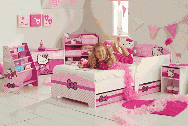desain kamar tidur anak hello kitty lucu terbaru 2014