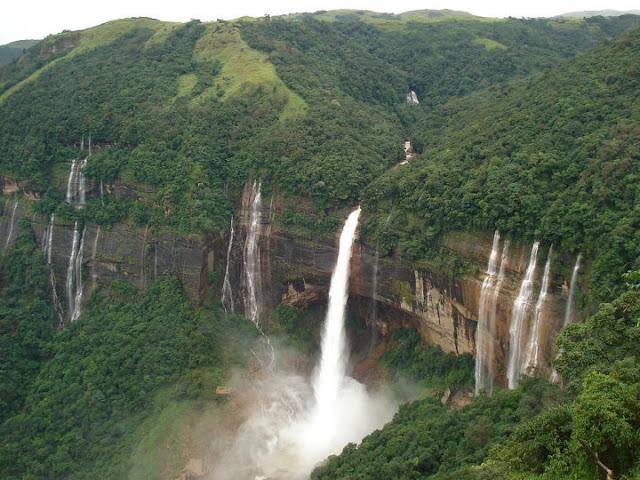Nohkalikai Falls at Cherrapunji, Meghalaya