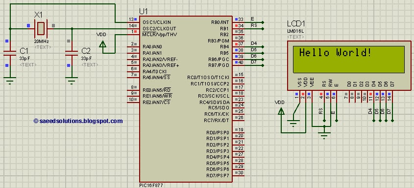 pic16f877 lcd interfacing code in 4bit mode proteus simulation rh saeedsolutions blogspot com