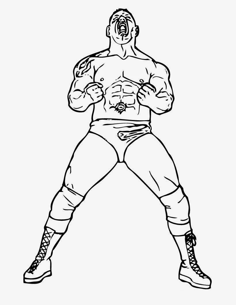 wwe coloring pages online | FCP