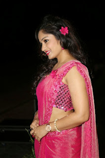 Actress Madhavi Latha Pictures in Pink Saree at Mosagallaku Mosagadu Audio Release Function  4.JPG