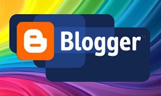 Эмблема Blogger на разноцветном фоне